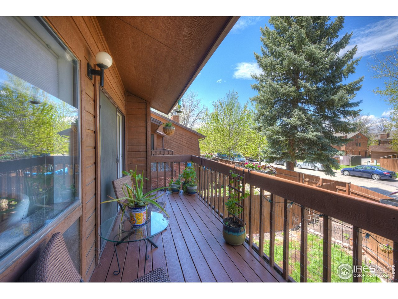 Spacious deck over looking canal/bike path