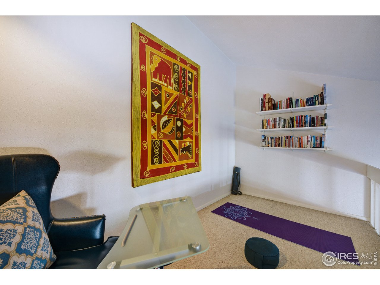 Great loft area for storage or office space.