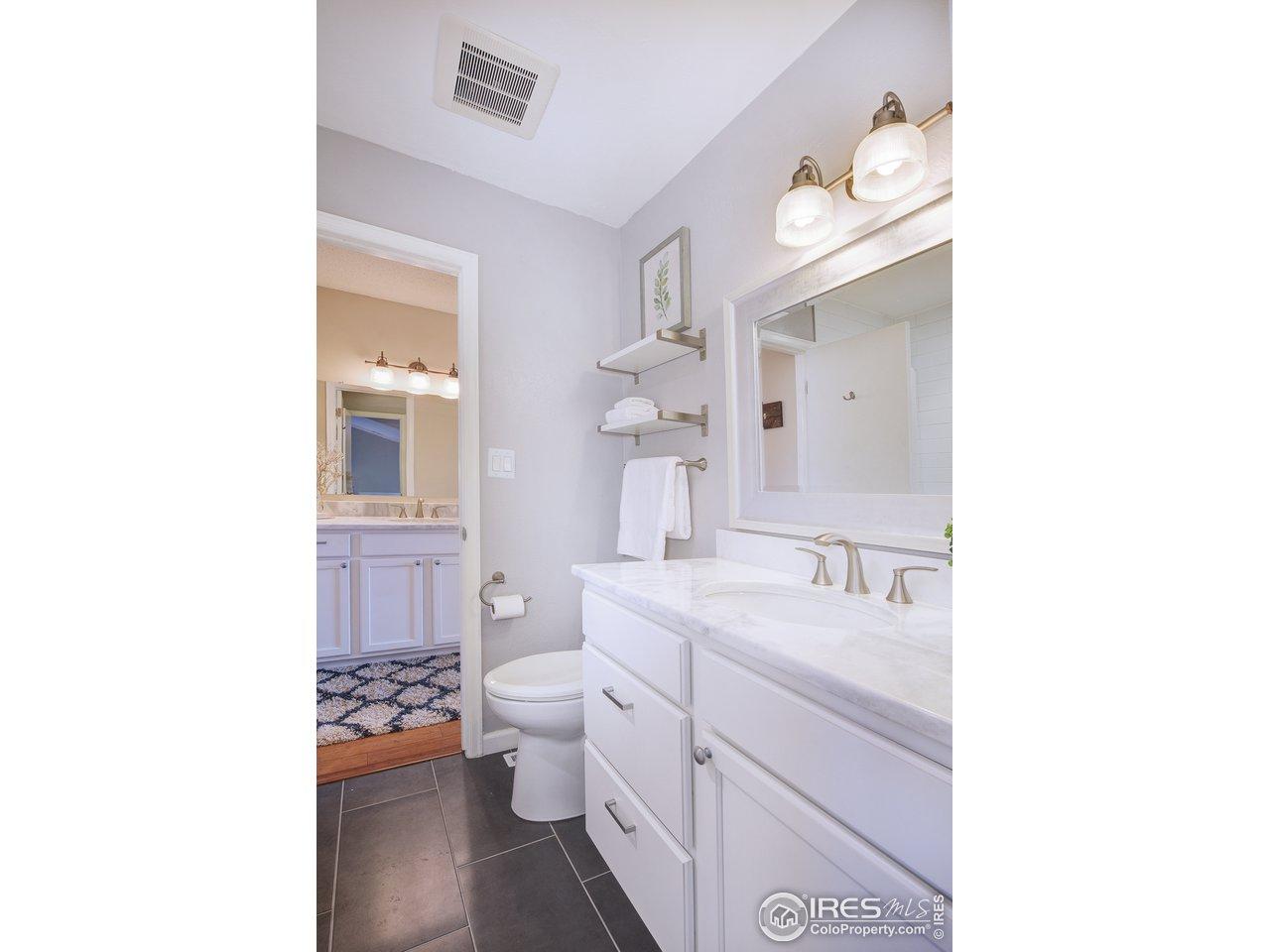2 bathroom vanities