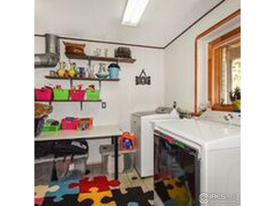 Extra storage in laundry room