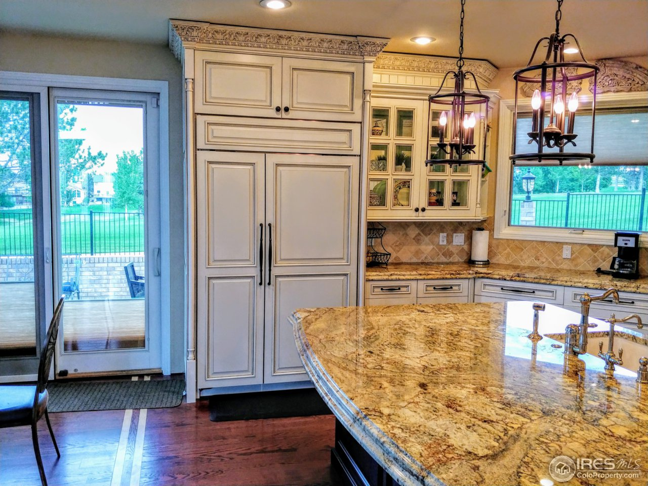 Open kitchen backing golf course