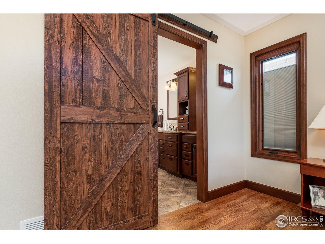 Master Bath with Great Barn Door!