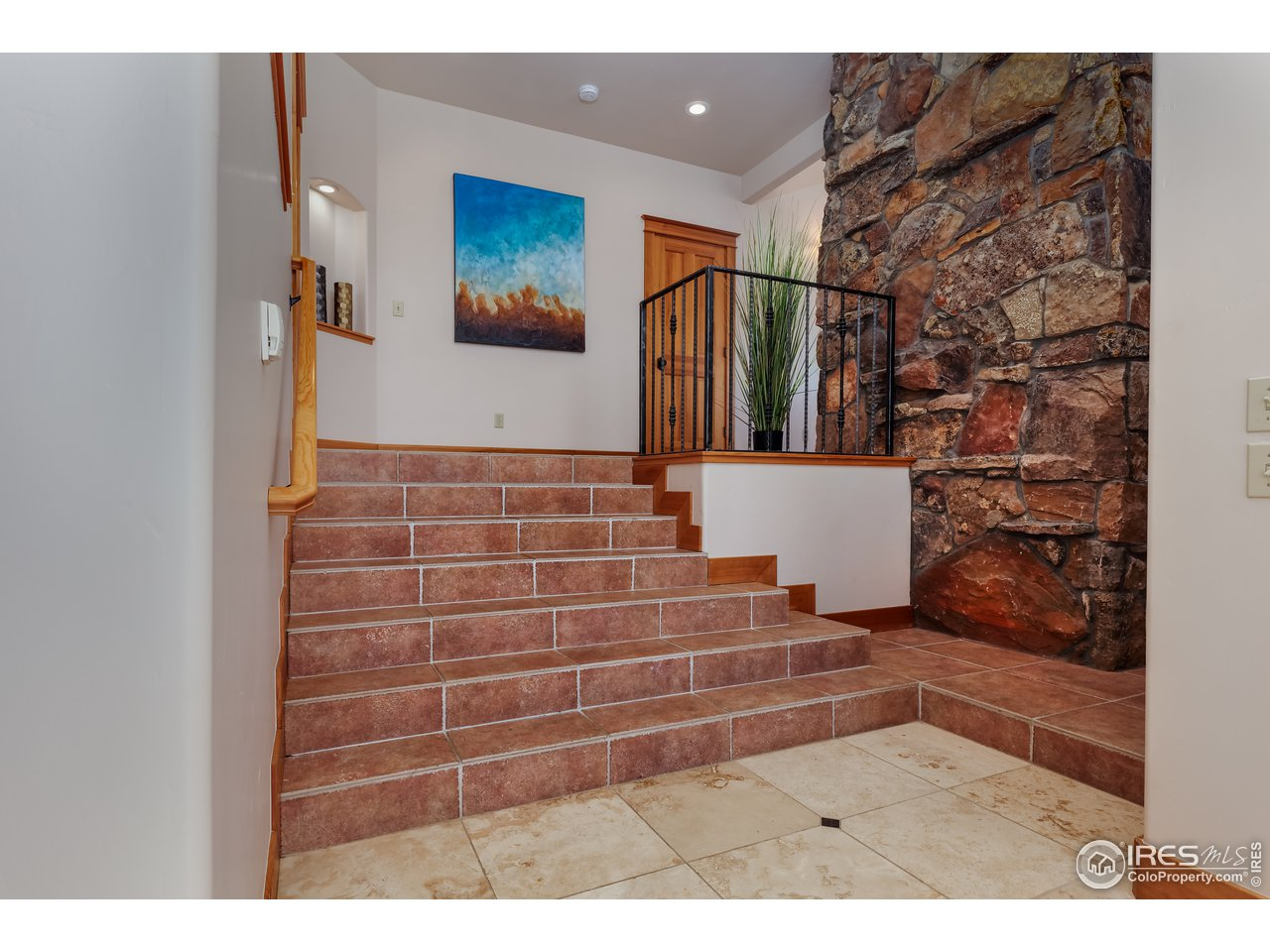 Gracious foyer entrance