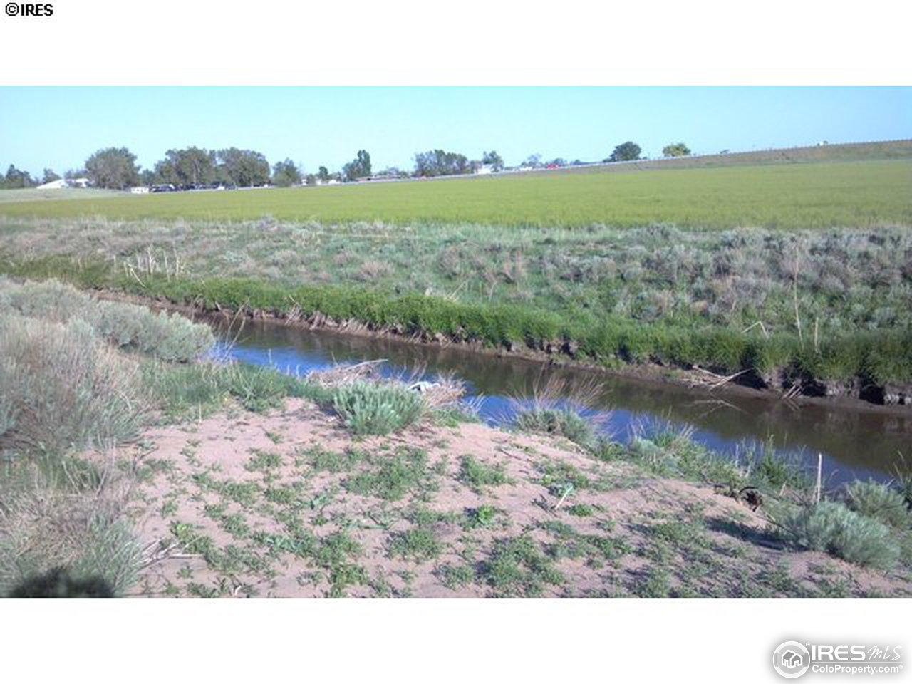 The irrigation ditch on the south side