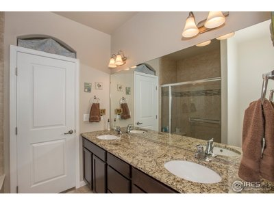 An open & yet private master bath