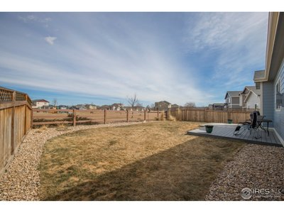 A large backyard with ample room