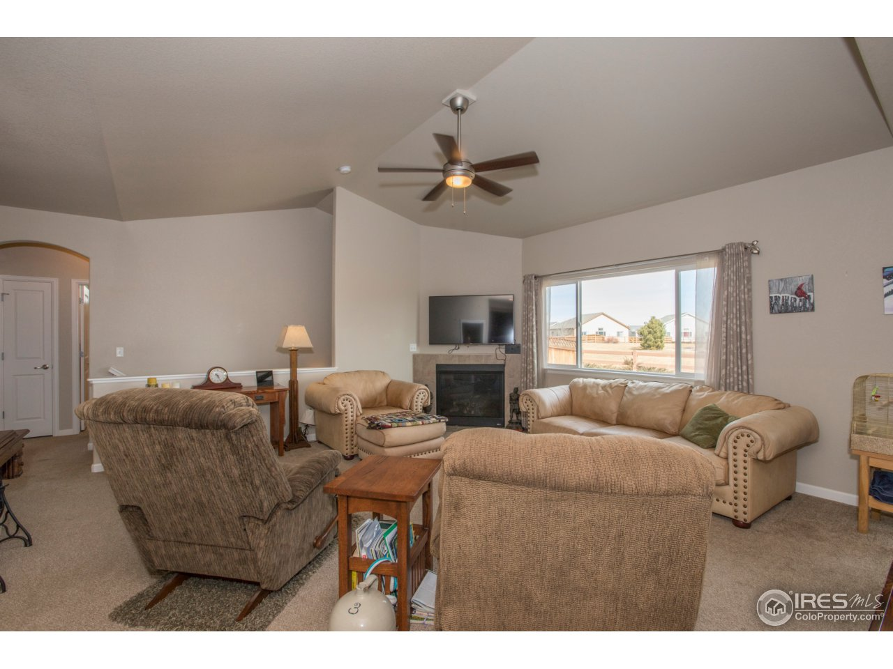 The living area could be an entertainer's dream