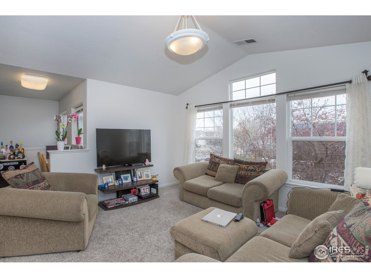 Vaulted ceilings add to the airy, open feel