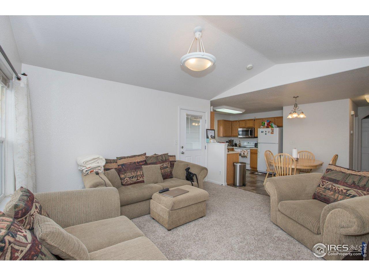 Spacious: living room has many arrangement options