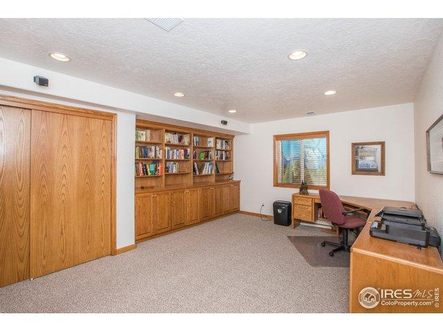 Lower level flex room w/built-ins