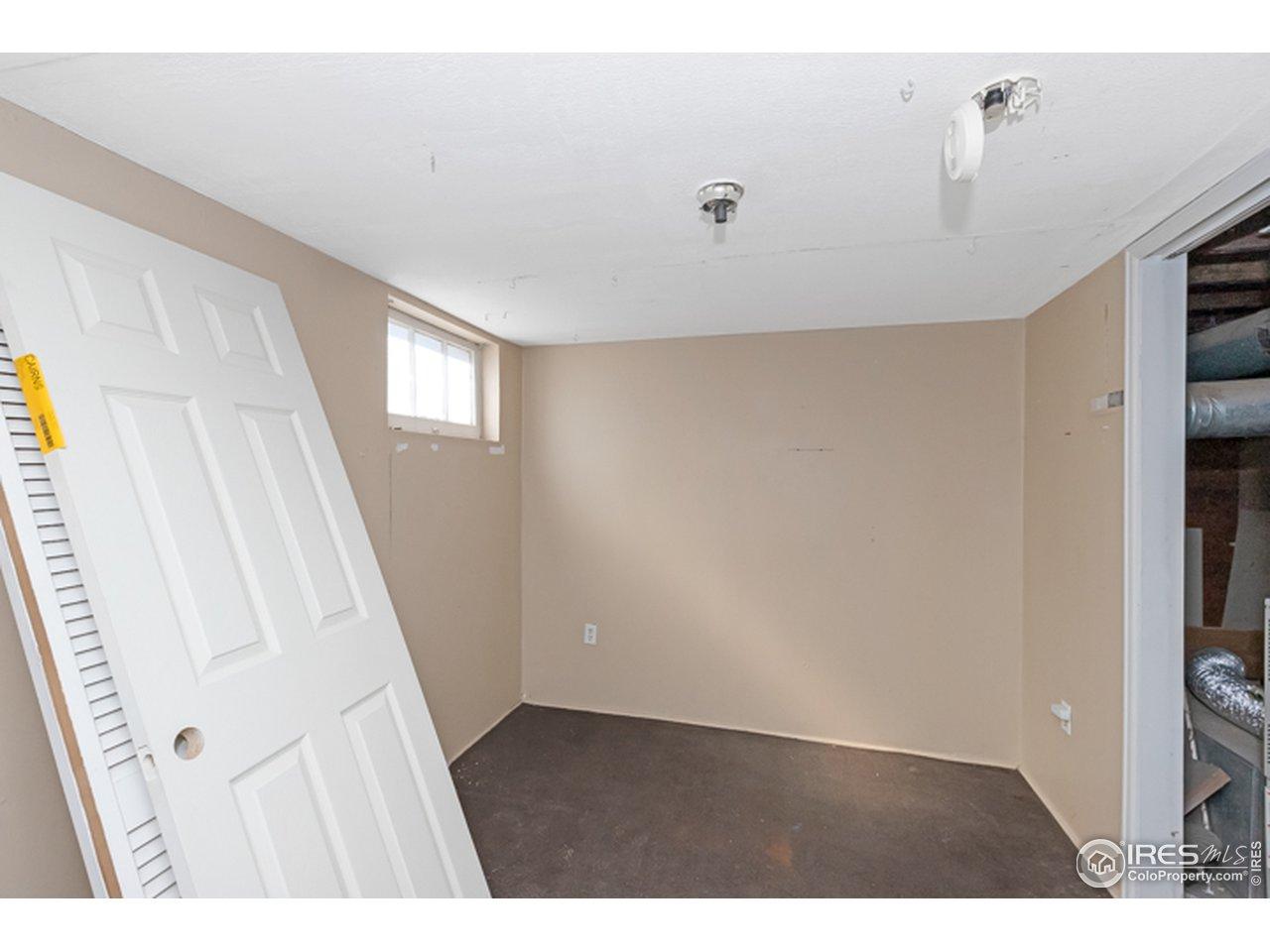 Basement flex room space
