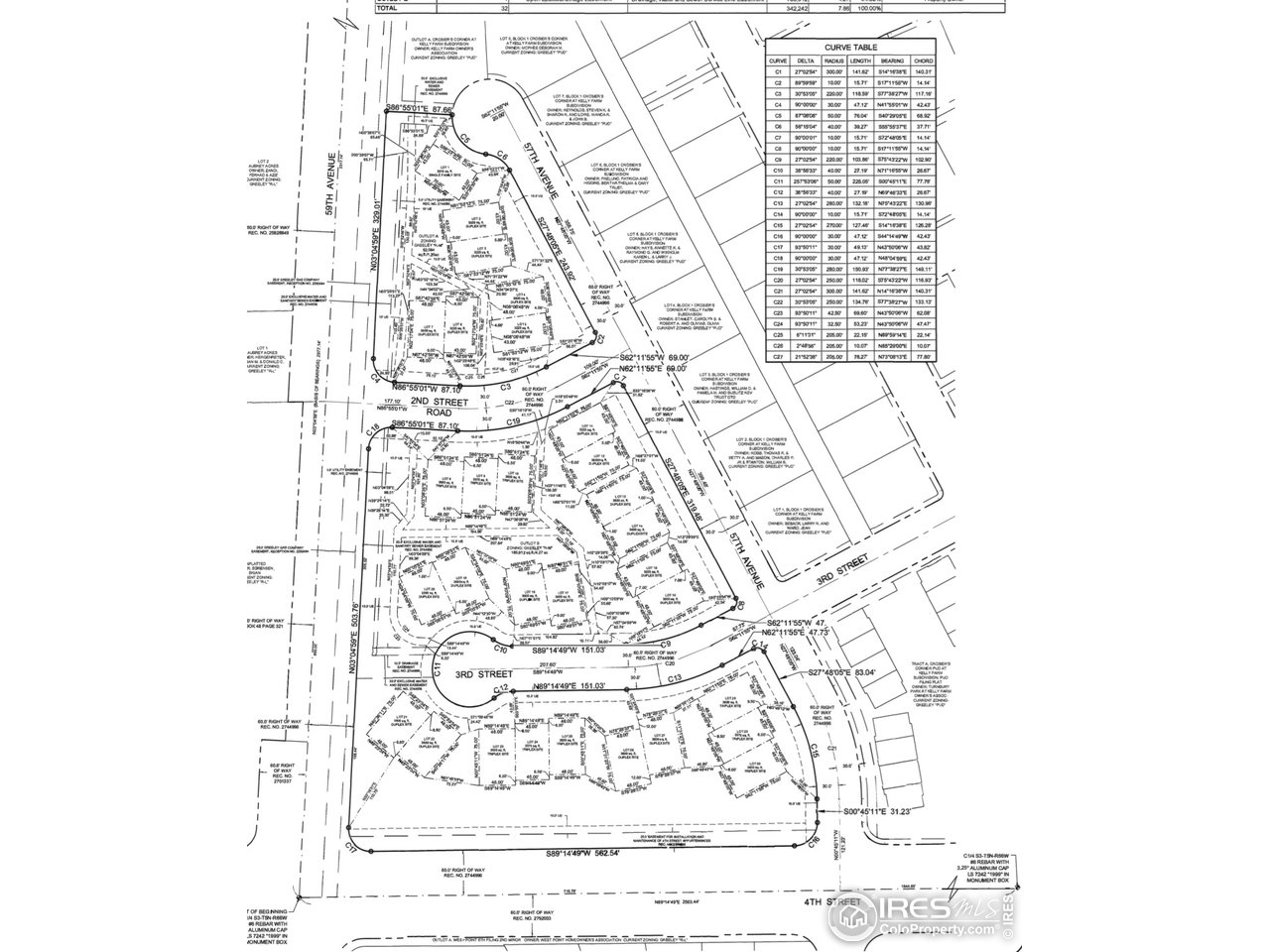 The site map for Cottages at Kelly Farm