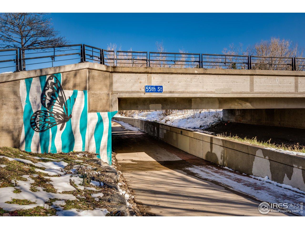 Trails to E Boulder Rec