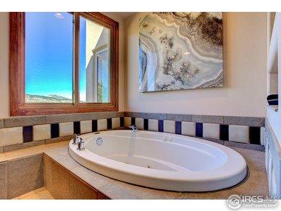 Master bath with large soaking tub