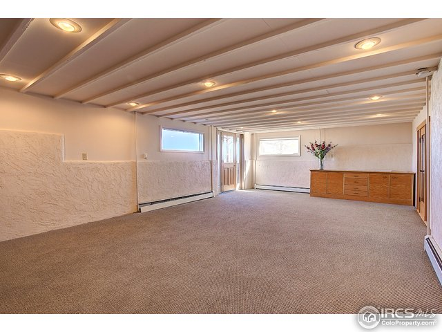 Family room with wine cellar area