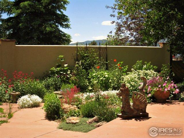 Courtyard landscaping in season