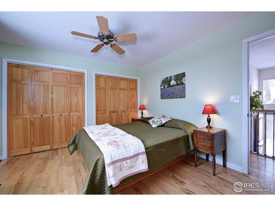 2 closets in master bedroom