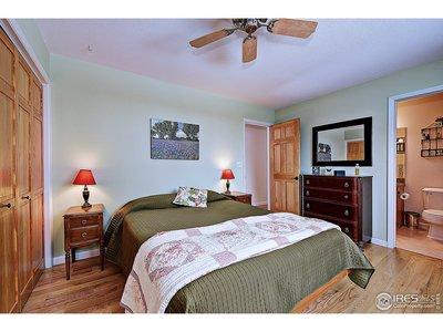 Door to full bath from master bedroom w/