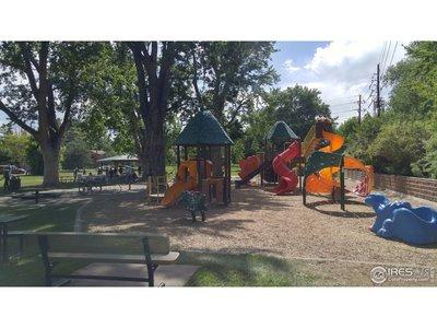 Modern playground at the park
