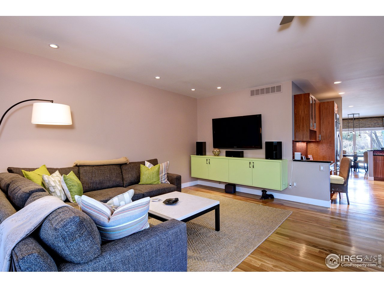East side of expansive family room off kitchen