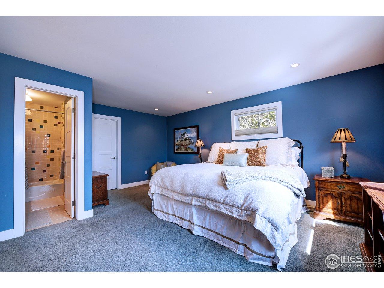 Carpeted floors in 2nd bedroom
