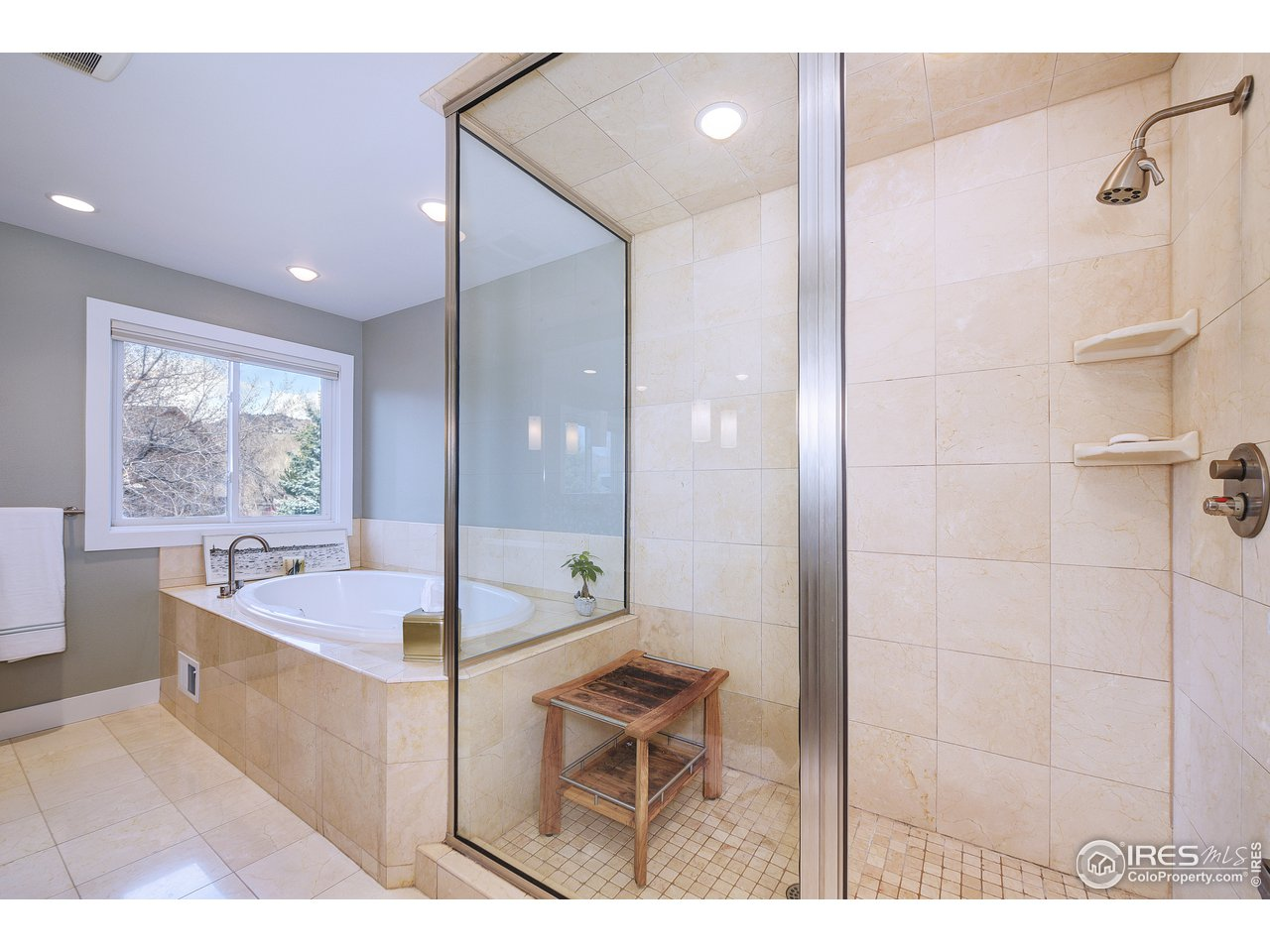 Steam shower and jetted spa tub