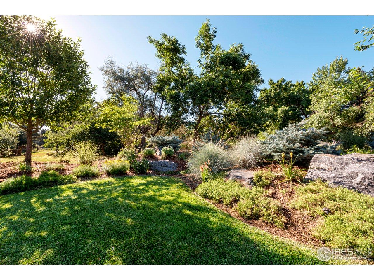 Lush landscaping