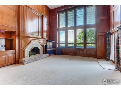 Brick Gas Fireplace at Family Room