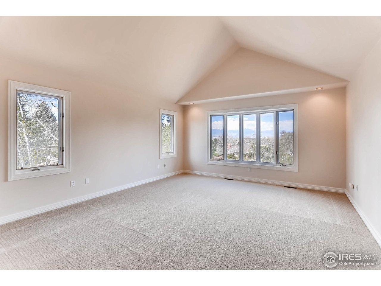 Master Bedroom w/ Views of Longs Peak