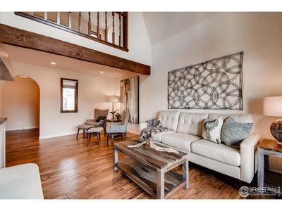 Living Room w/ Vaulted Ceilings