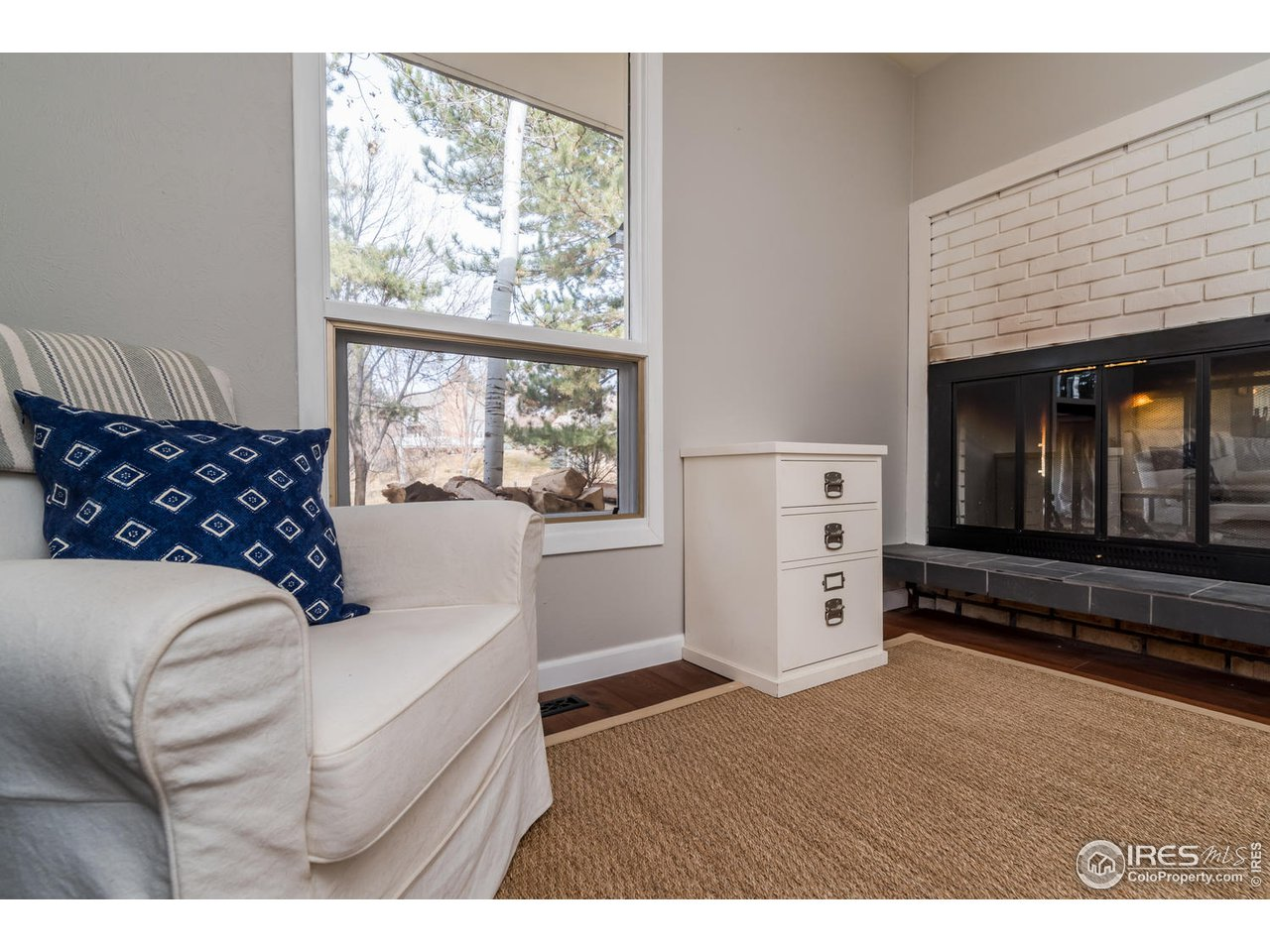 2-Sided Fireplace at Study