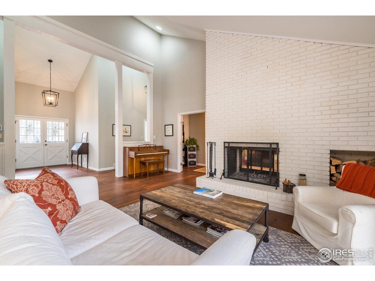 2-Sided Brick Fireplace