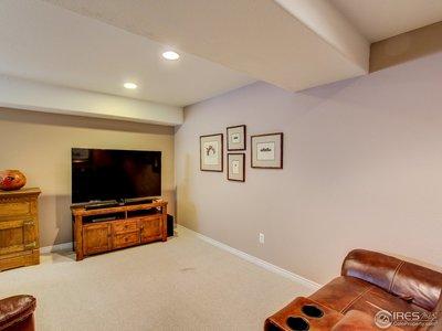 basement entertainment area
