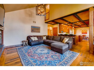 spacious family room w/2 story ceiling