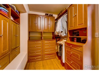 master bedroom walkin closet with built ins