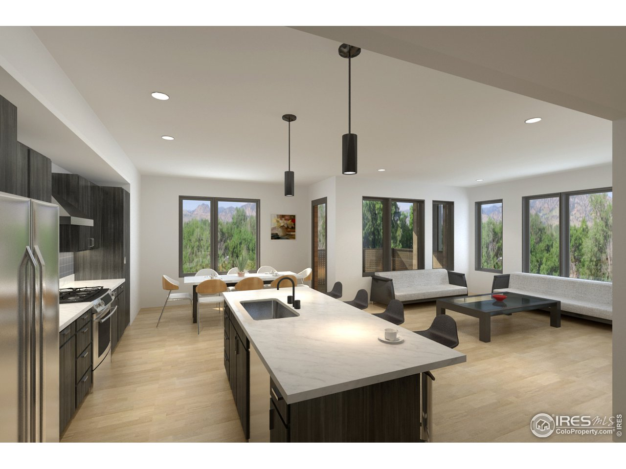 Open Floor Plans and 9' Ceilings
