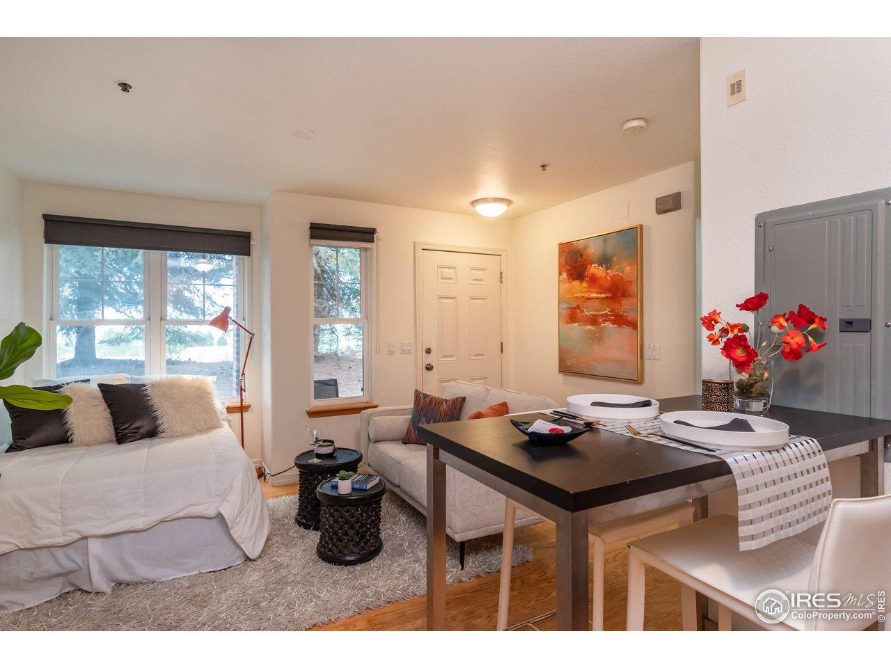 Open Floor Plan w/ No Defining Walls & High Ceilings