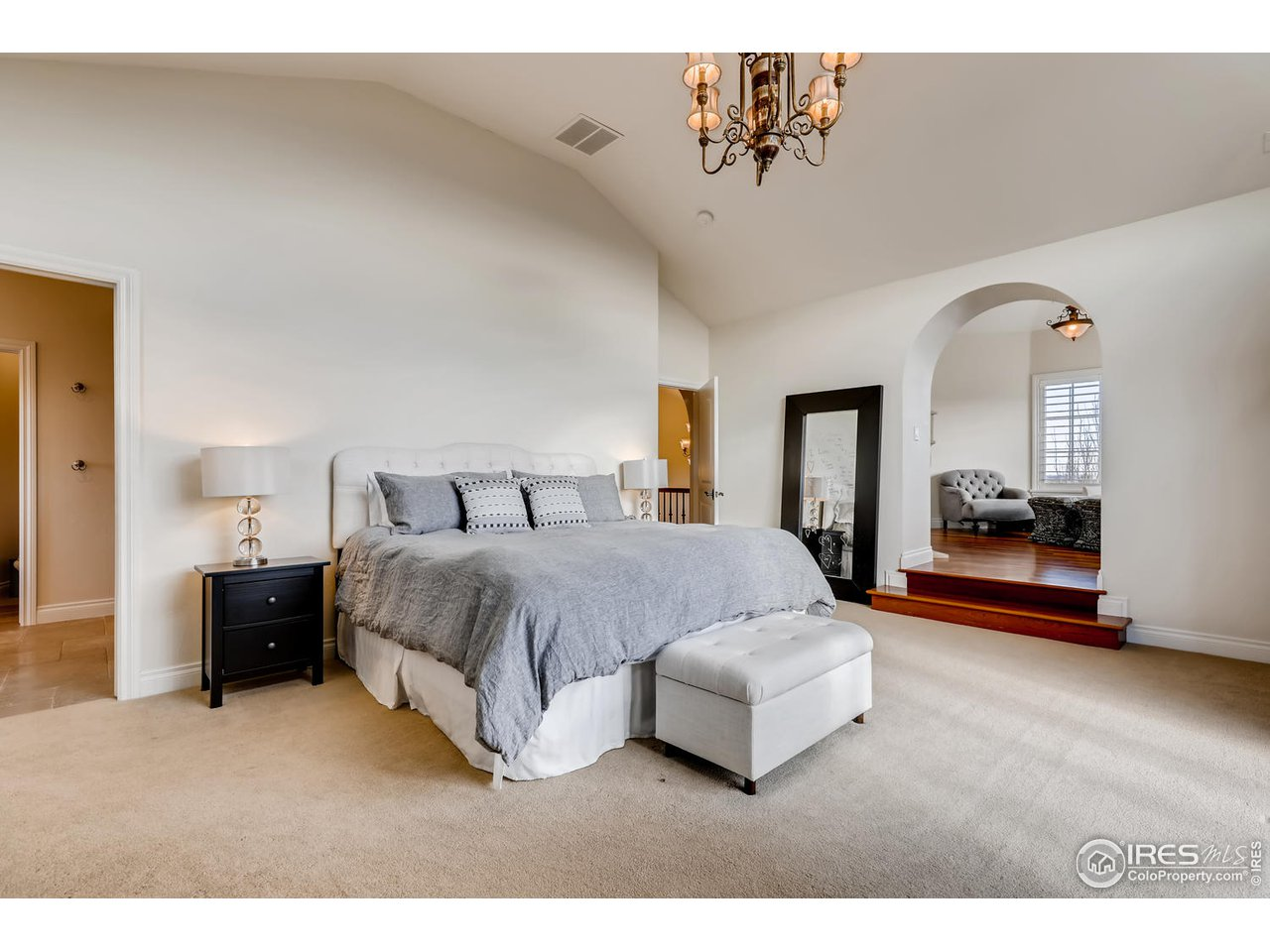 Master Bedroom with Private Sitting Room