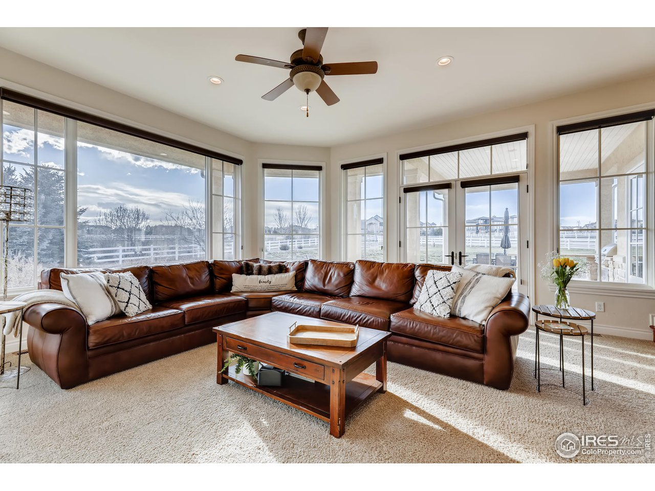 Family Room with serene views & patio access