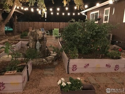 with rasied garden beds