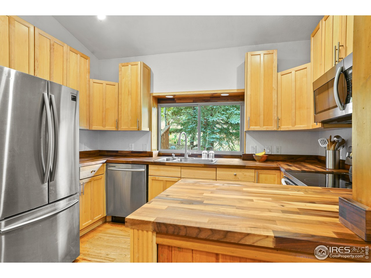 Maple Cabinets, Butcher Block Counter Tops