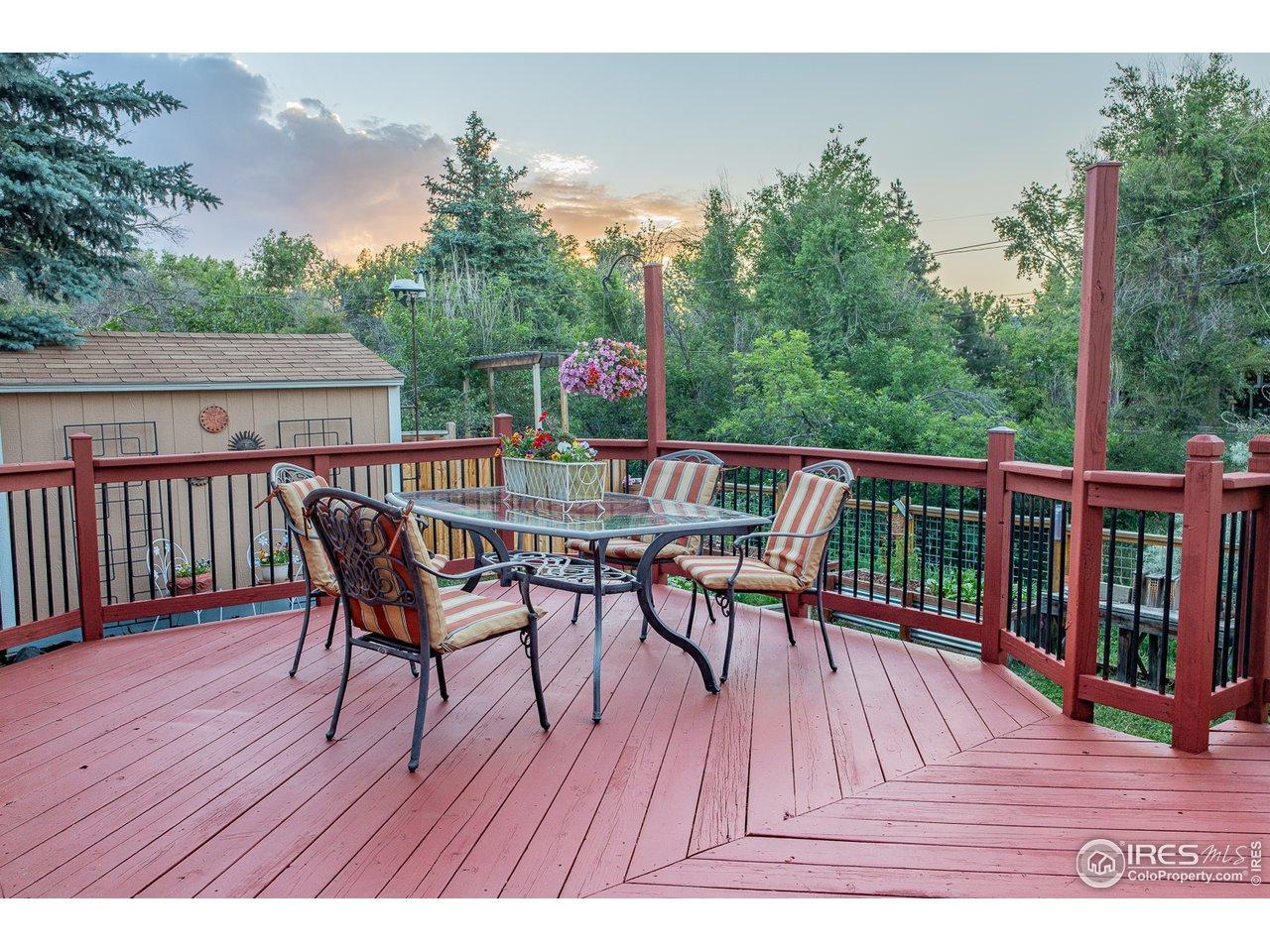Large Deck in Backyard