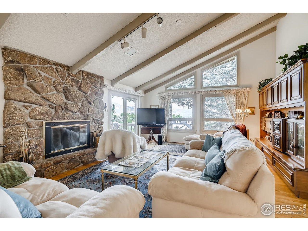 Living Rm Massive Fireplace