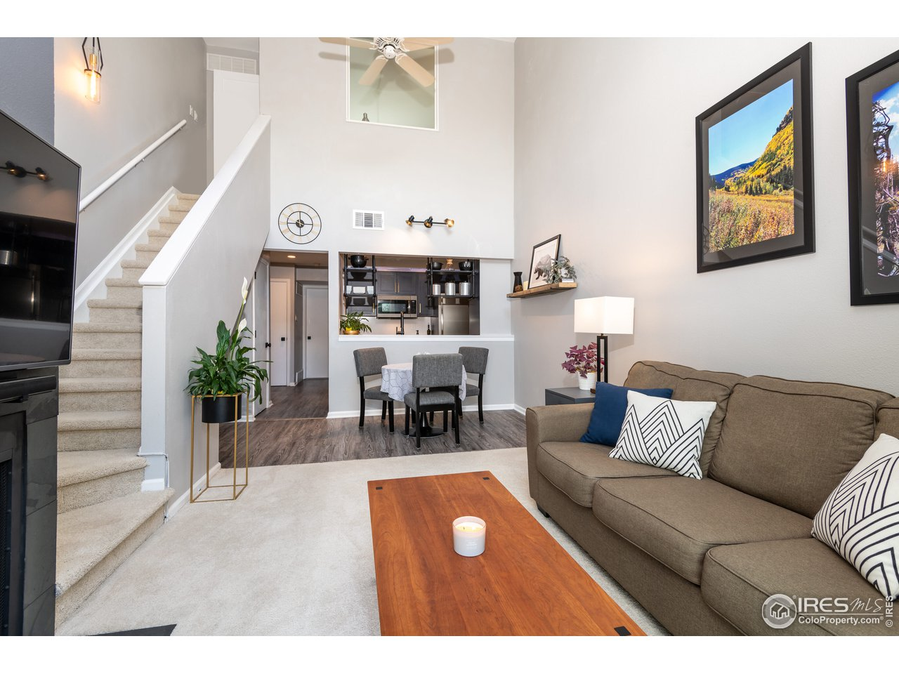 Soaring ceilings in this recently fully remodeled condo
