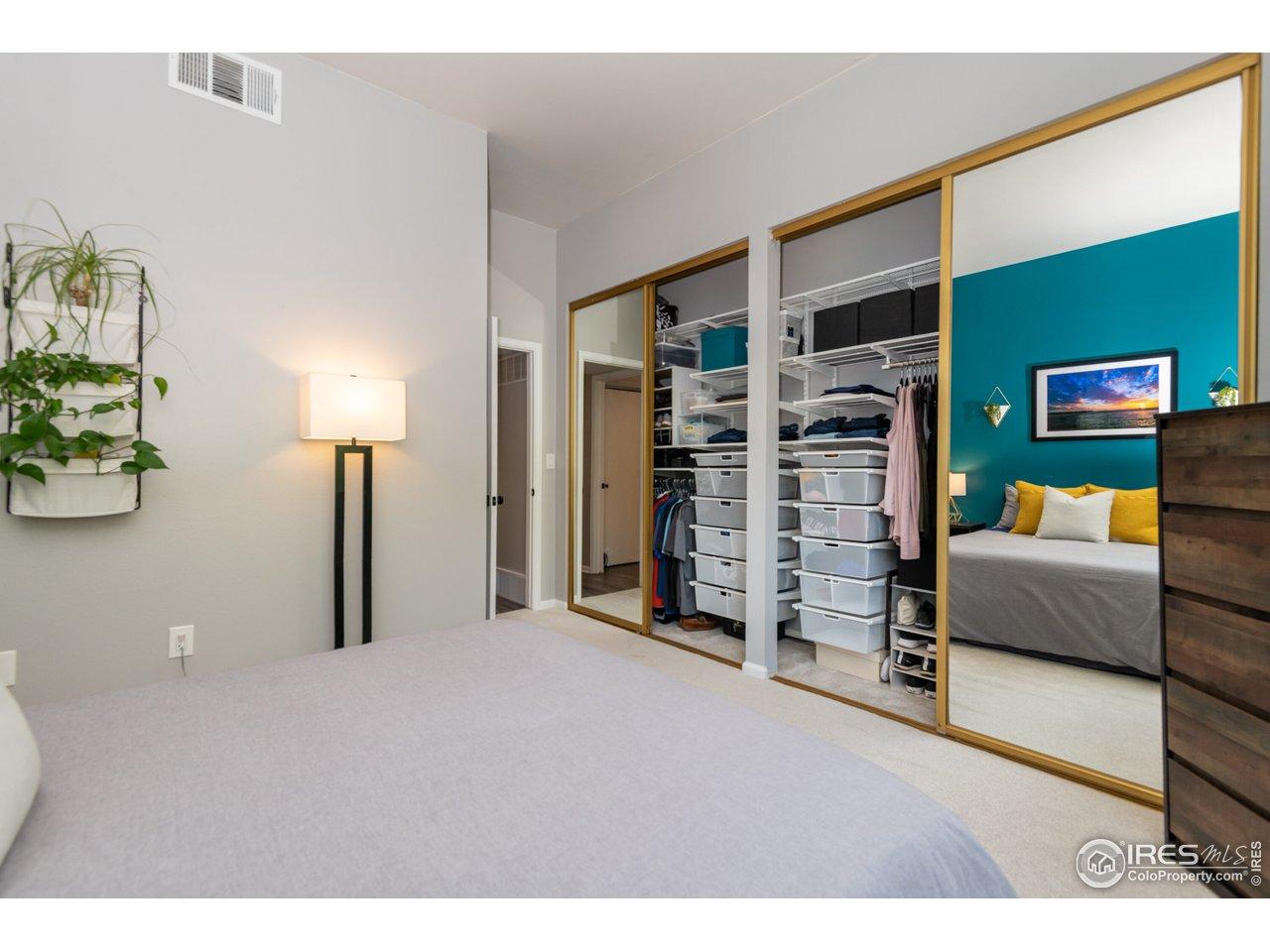 Primary bedroom with Elfa Closet System