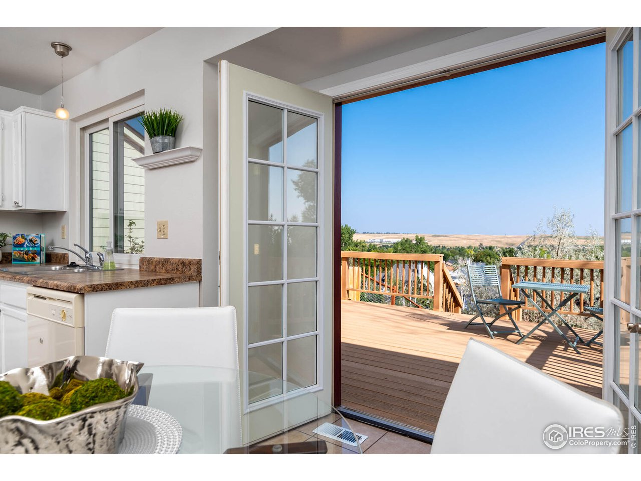 French doors to back deck