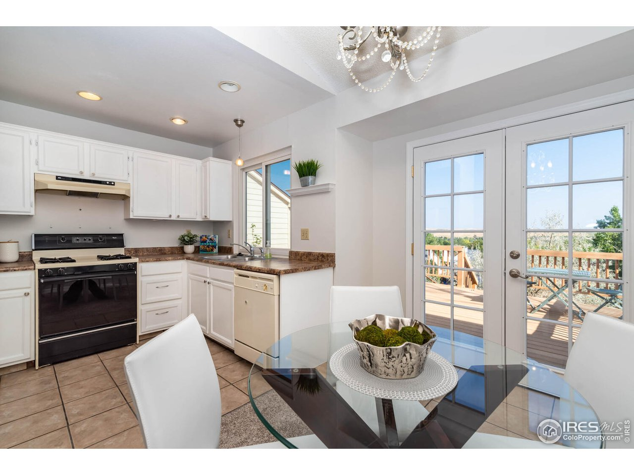 Kitchen with views to open space
