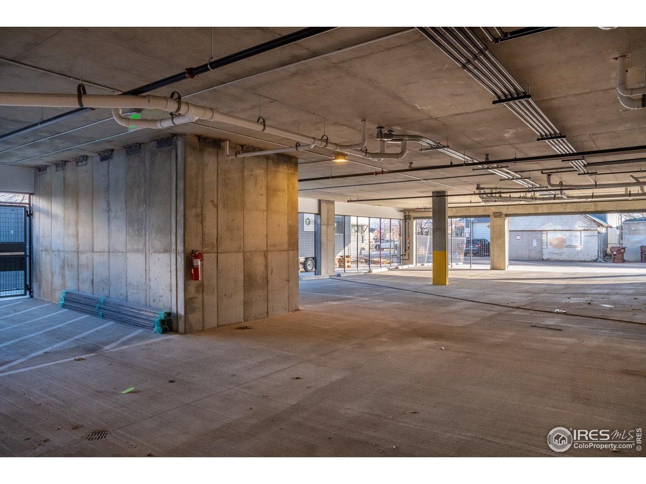 Secure Open Air Parking Garage
