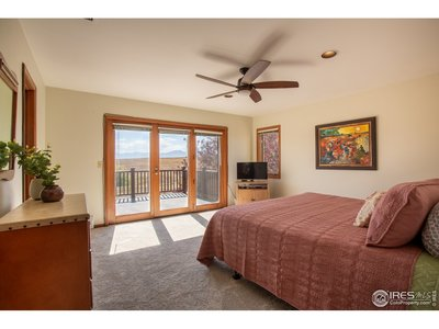 Master bedroom with mountain views
