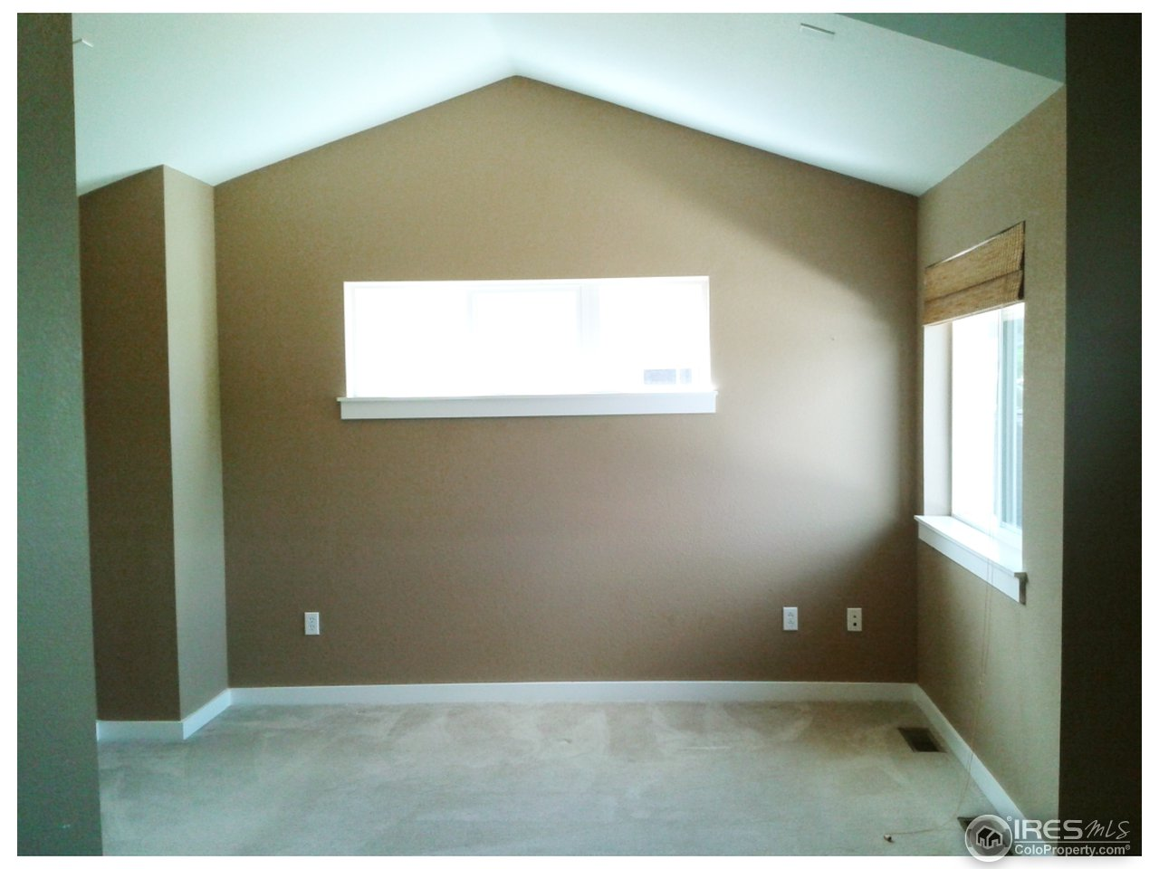 Master bedroom - vaulted ceiling